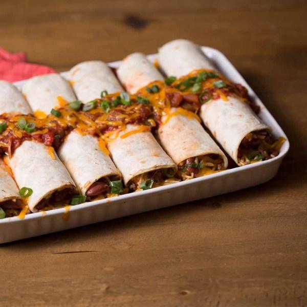 Receita beefy brócolis & cheddar burritos