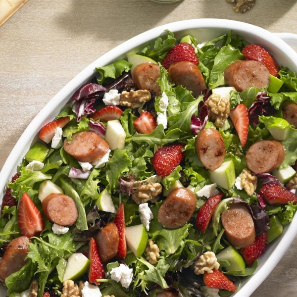 Receita de Salada de Linguiça de Morango e Maçã johnsonville