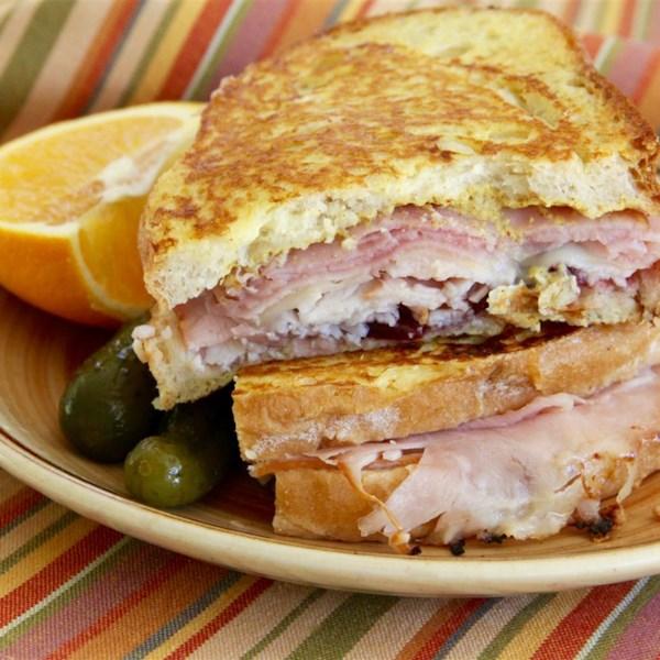 Sanduíche de Monte Cristo com Receita de Bacon