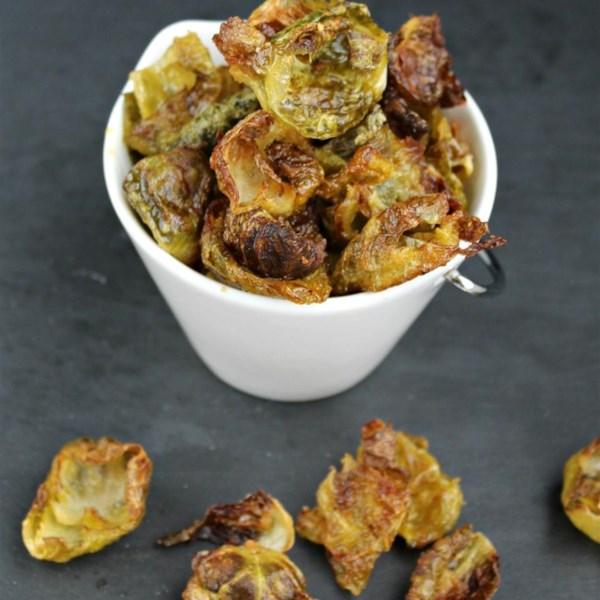 Receita de Chips de Couve-De-Bruxelas Picantes
