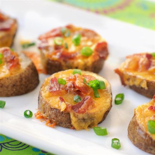 Receita rodadas de batata de queijo e bacon