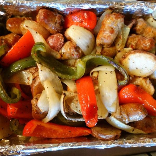 Receita de Salsicha, Pimentas, Cebola e Batata