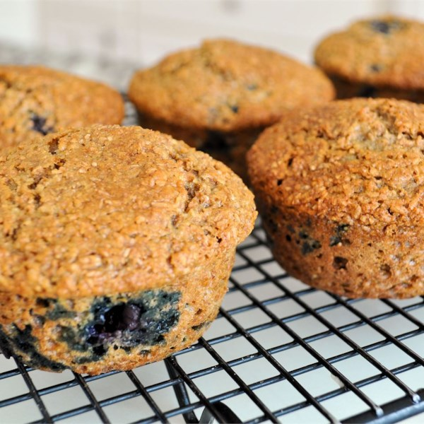 Receita de Muffins de Farelo de Mirtilo de Baixo Teor de Amora