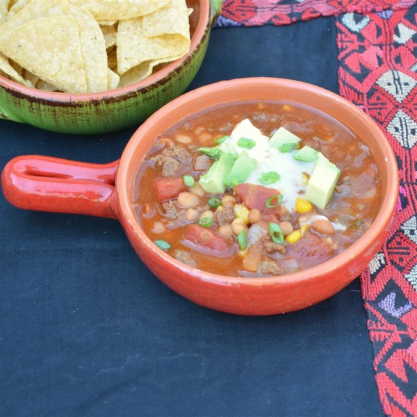 Dia movimentado Receita de Sopa de Taco de Panela Lenta