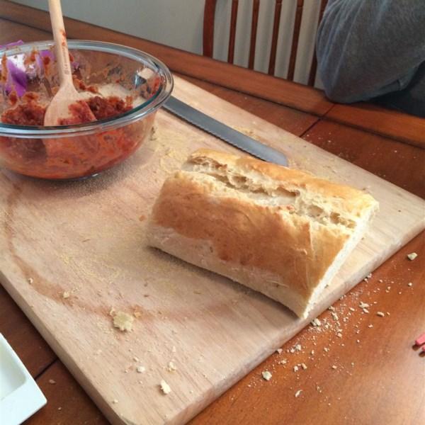 Pão italiano usando uma receita de máquina de pão