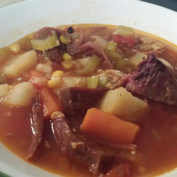 Receita de Sopa de Osso de Presunto e Legumes