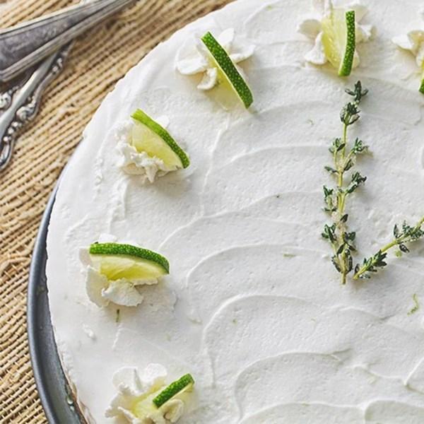 Receita de Torta de Tomilho de Limão-Chave