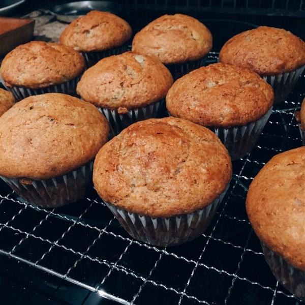 Receita de Muffins de Banana Úmido