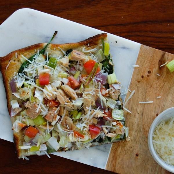 Receita de Pizza de Atum Mediterrâneo