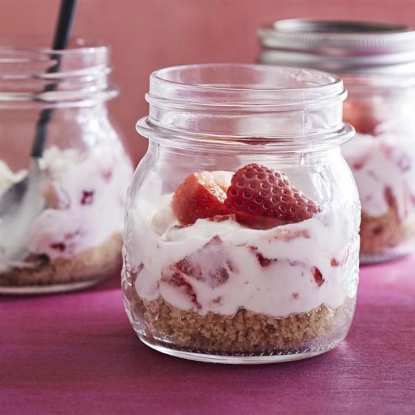 Cheesecake em uma receita de jarra