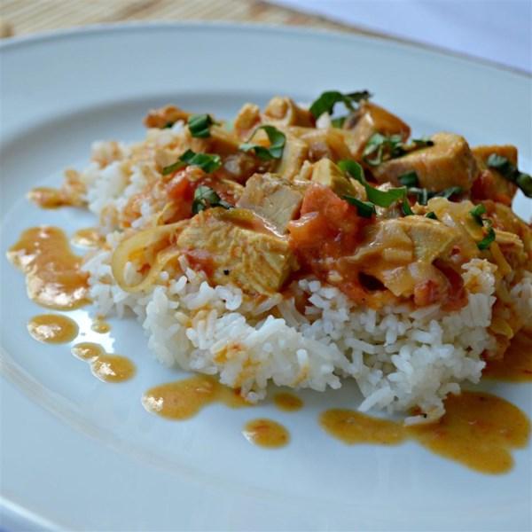 Receita de Frango de Coco Com Curry