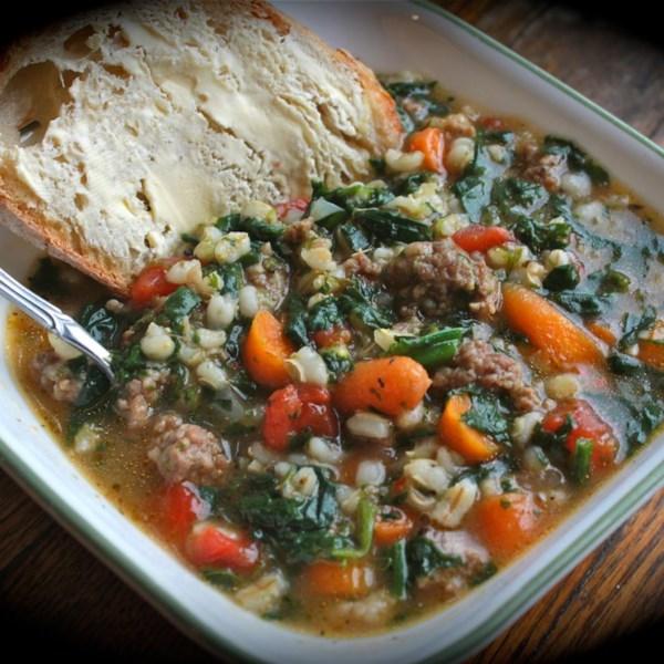 Receita de Sopa de Cevada de Linguiça