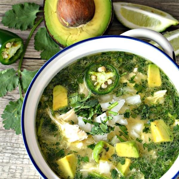 Receita de Sopa de Abacate de Limão Picante