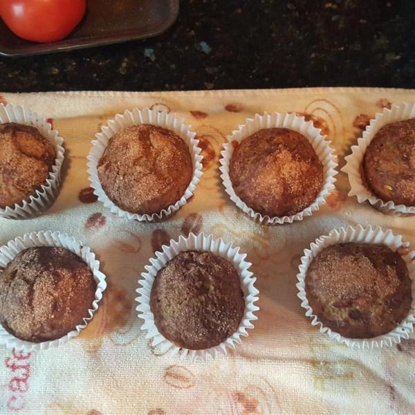 Receita de Muffins de Pão de Banana de Abobrinha Vegana