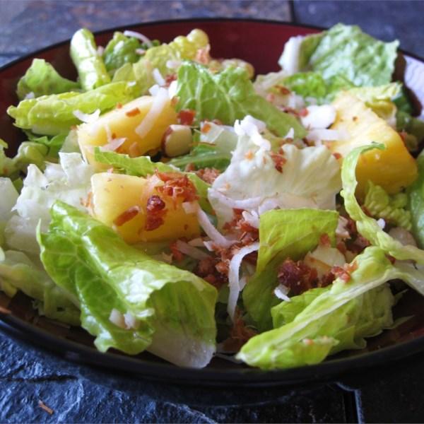 Salada Tropical com Receita de Vinagrete de Abacaxi