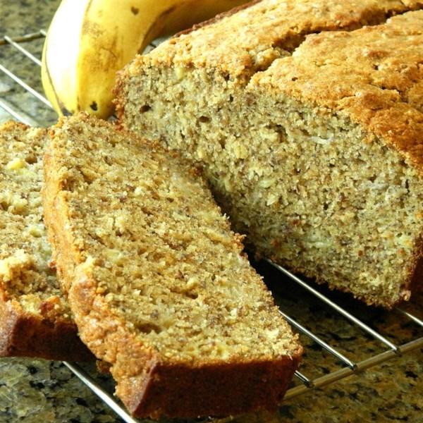 Pão de Banana de Trigo Integral com Linhaça e Receita de Aveia