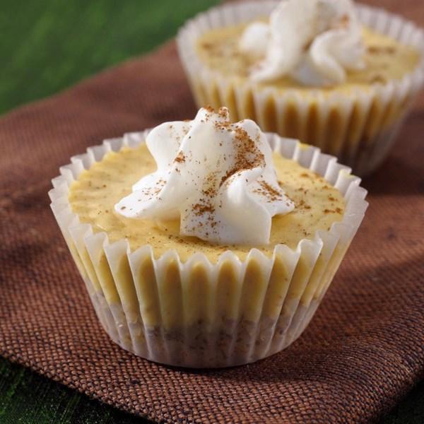 Mini Cheesecakes de abóbora da Receita Reddi-wip(R)