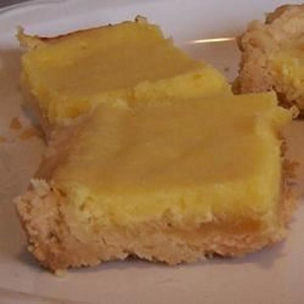 Receita de Barras de Torta de Creme de Limão