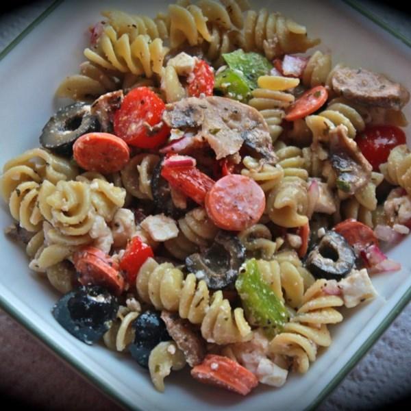 Salada de Massa Grega I Receita