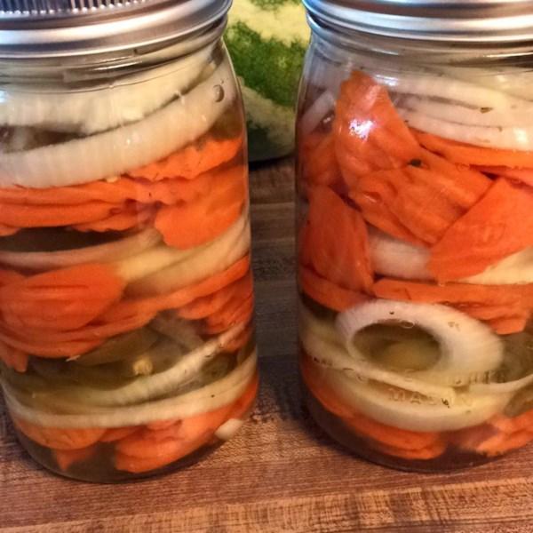Receita mexicana de cenouras quentes