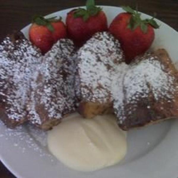 Panettone French Toast com Receita de Molho de Mascarpone Laranja