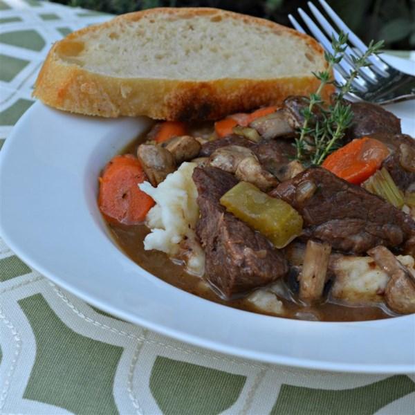 Carne Bourguignon Sem a Receita borgonha