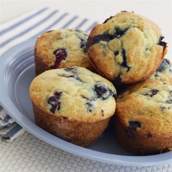 Receita de Muffins de Queijo-Mirtilo
