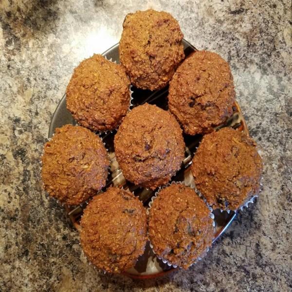 Receita de Muffins de Farelo Saudável de Tempero de Abóbora