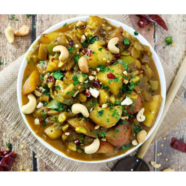 Receita de Curry de Batata e Caju do Sri Lanka
