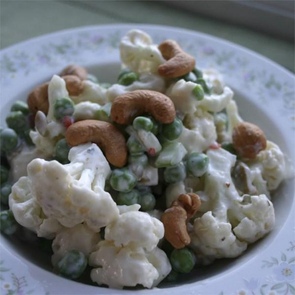 Receita de Salada de Ervilha e Couve-Flor
