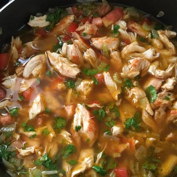 Receita mexicana de sopa de frango