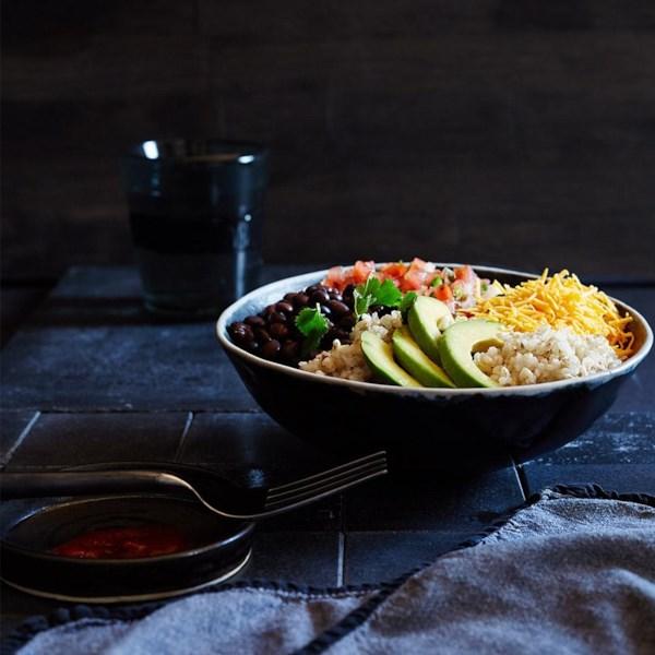 Receita de Tigela de Burrito de Feijão De Arroz Integral
