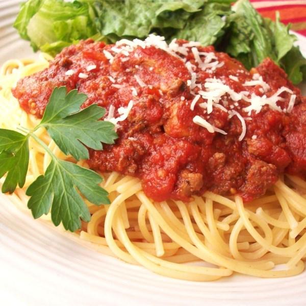 Receita de Molho de Espaguete De Panela Lenta do Amante da Carne