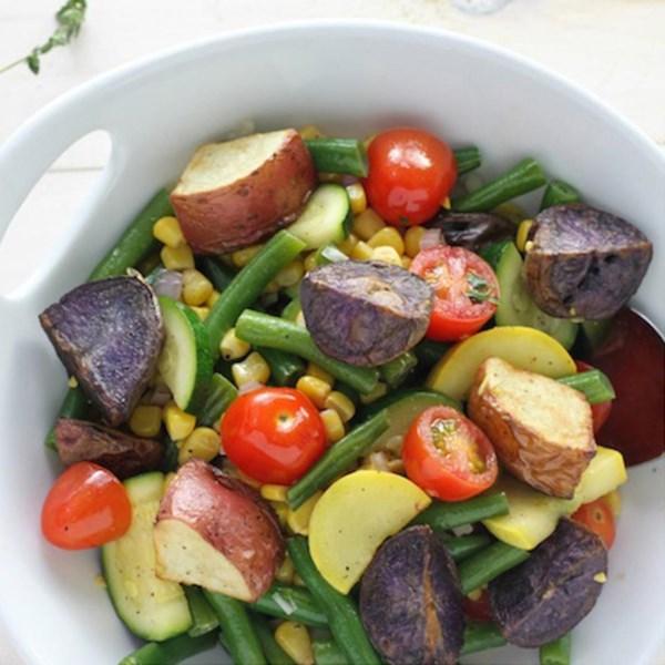 Receita de Salada de Batata Assada do Arco-Íris