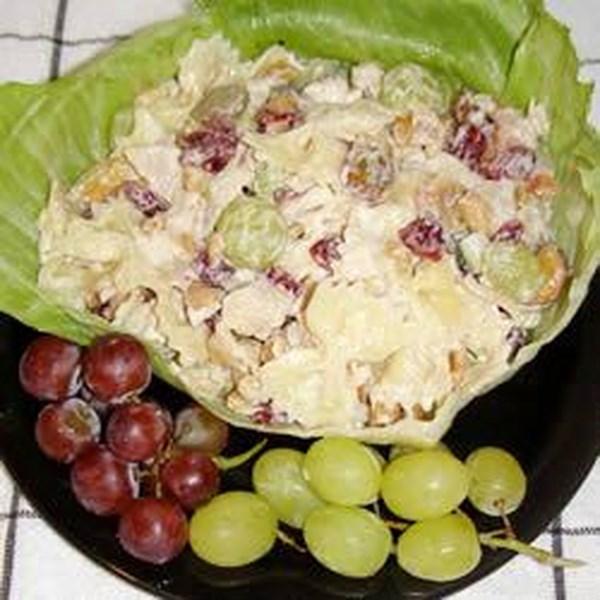 Salada de Macarrão de Frango com Cajueando e Receita de Cranberries Seco