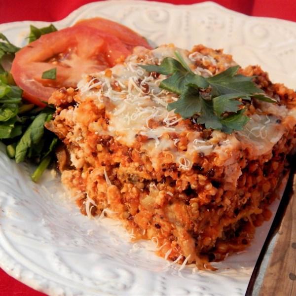 Receita de Lasanha de Quinoa de Peru Low-Carb