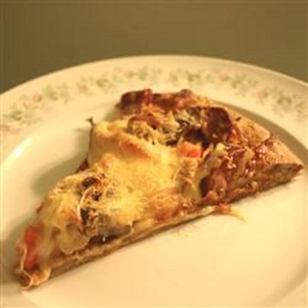 Receita de Pizza de Frango e Chourico