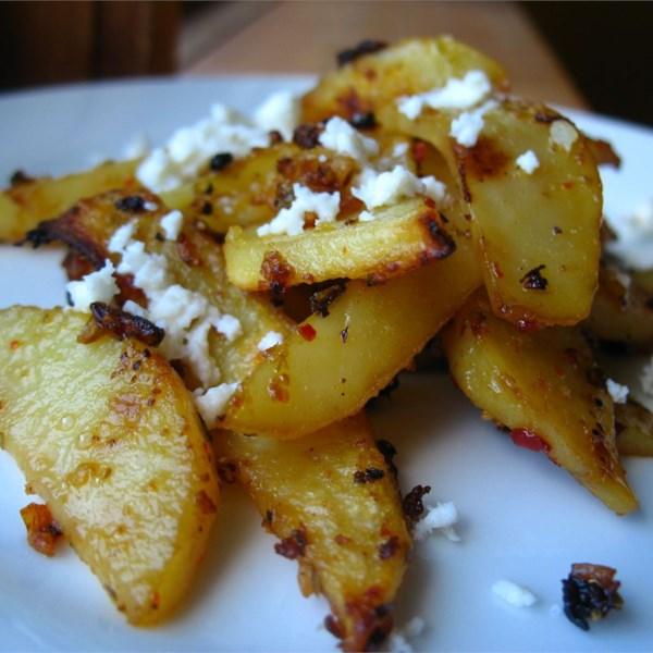 Batatas Assadas Gregas herbed com Receita de Queijo Feta