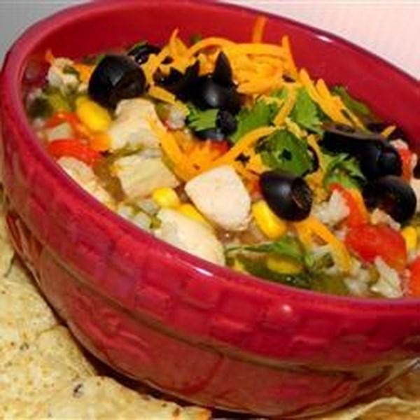 Receita de Sopa de Legumes de Frango tortilla