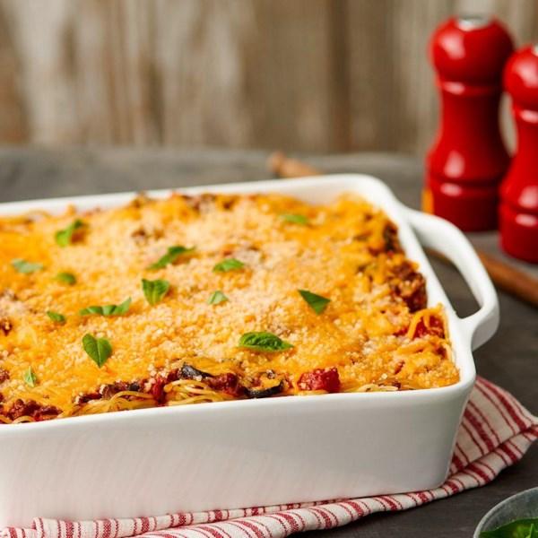Espaguete assado da Receita de Queijo borden(R)