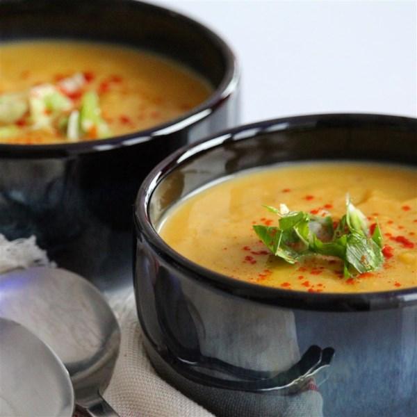 Receita de Sopa de Abóbora de Curry de Coco