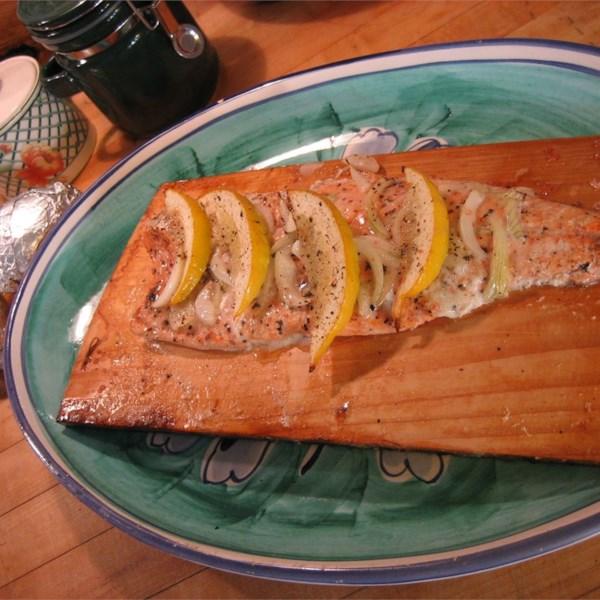 Receita canadense de salmão de cedro