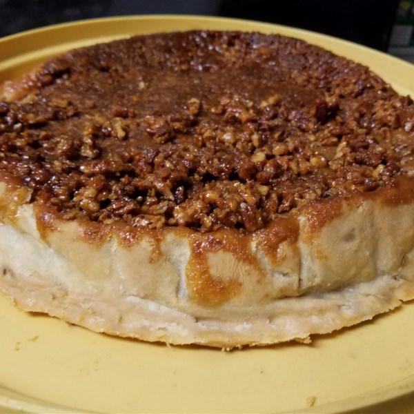 Receita de Torta de Maçã de Nozes caramelo