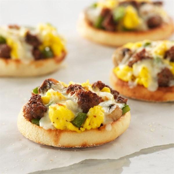 Receita de Pizzas de Café da Manhã do Muffin Inglês