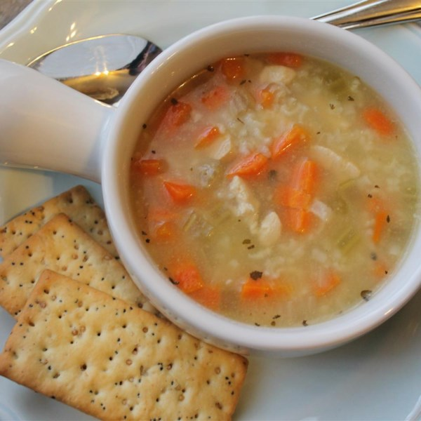 Receita de Frango, Arroz e Sopa Vegetal