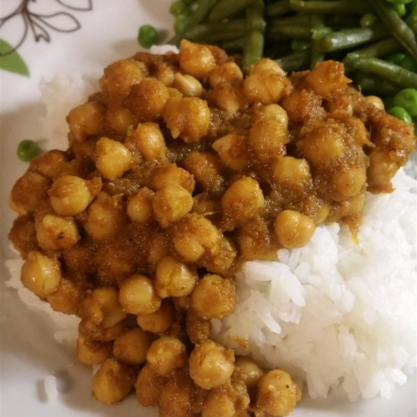 Receita de Chana Masala (Salgado Savory Indian Chick Peas)