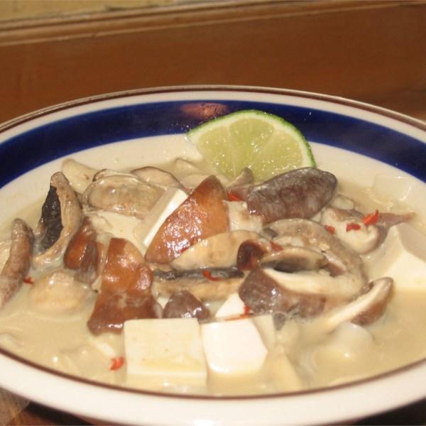 Receita de Sopa de Tofu de Curry Vermelho Tailandês