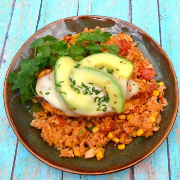 Hunt's(R) Monterrey Chicken and Rice Bake Recipe