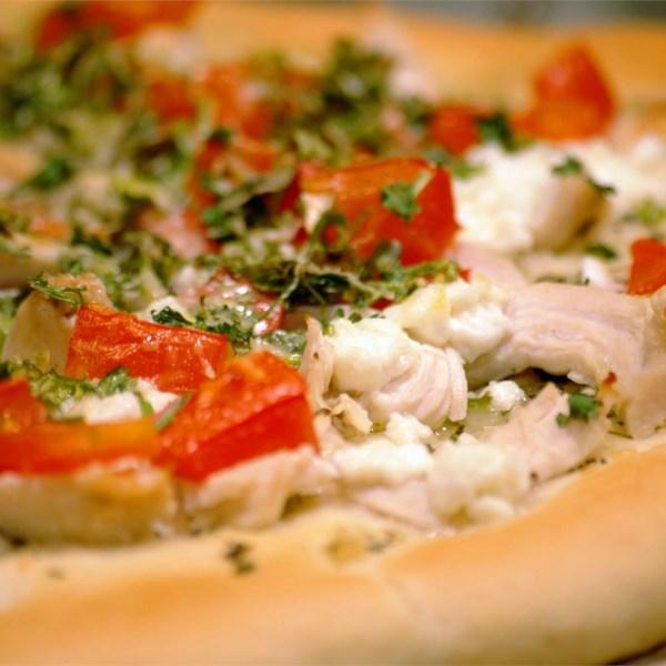 Receita de Pizza de Alho de Frango