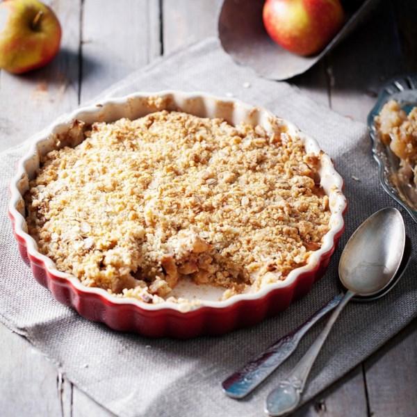 Receita de Bolo streusel de torta de maçã